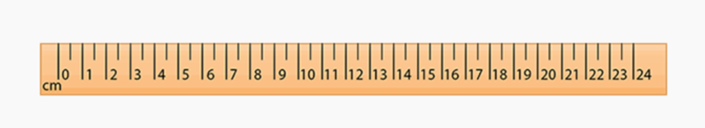 escala de centímetros