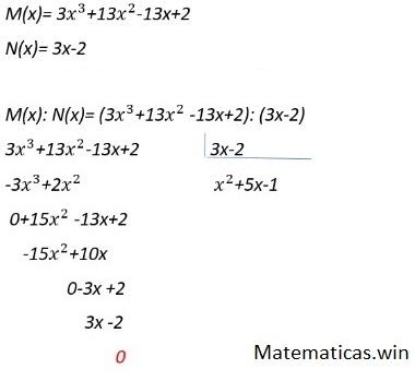 División exacta de polinomios
