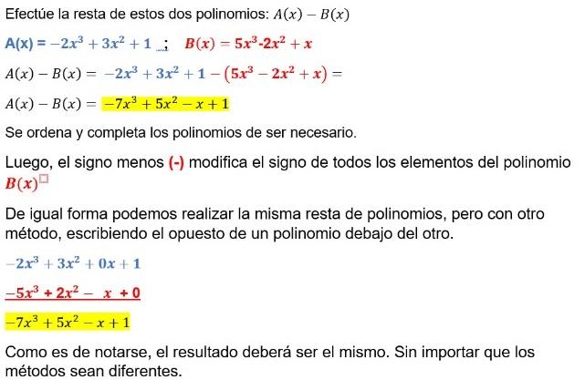 Resto de polinomios