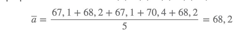 Media aritmética de los números