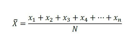 La media aritmética de una serie de números es el cociente de dividir la suma de estos números por el número de términos.